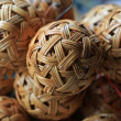 Woven wickerwork ball — Stock Photo #9952320