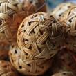 Woven wickerwork ball — Stock Photo