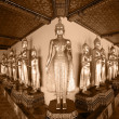 Buddhstatue at Temple in Bangkok — Stock Photo #9964740
