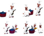 Cheerful chef made ​​of clay — Stockfoto