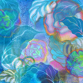 Blue floral design — Stock Photo