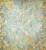 Motivo floreale, colore della carta — Foto Stock