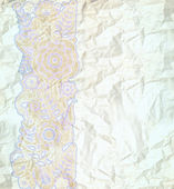 Floral pattern dark blue — Stock Photo