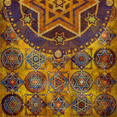 Geometric pattern stars — 图库照片