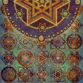 Geometric pattern stars — Stock Photo