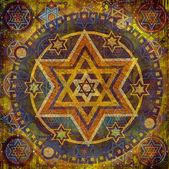геометрический узор звезды — Стоковое фото