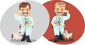 Veterinary man — Stock Vector