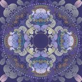 Floral design dark blue — Stock Vector