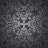 Black floral background — Stock Photo
