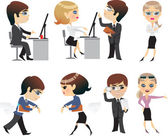 Profession, office,character — Stock Vector