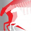 Royalty-Free Stock Vektorfiler: Pink horses