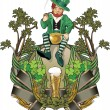 Stock Photo: Leprechaun, st.Patrick day