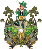 Leprechaun, st.Patrick day — Stock Photo