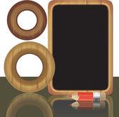 Wooden frames — Vector de stock