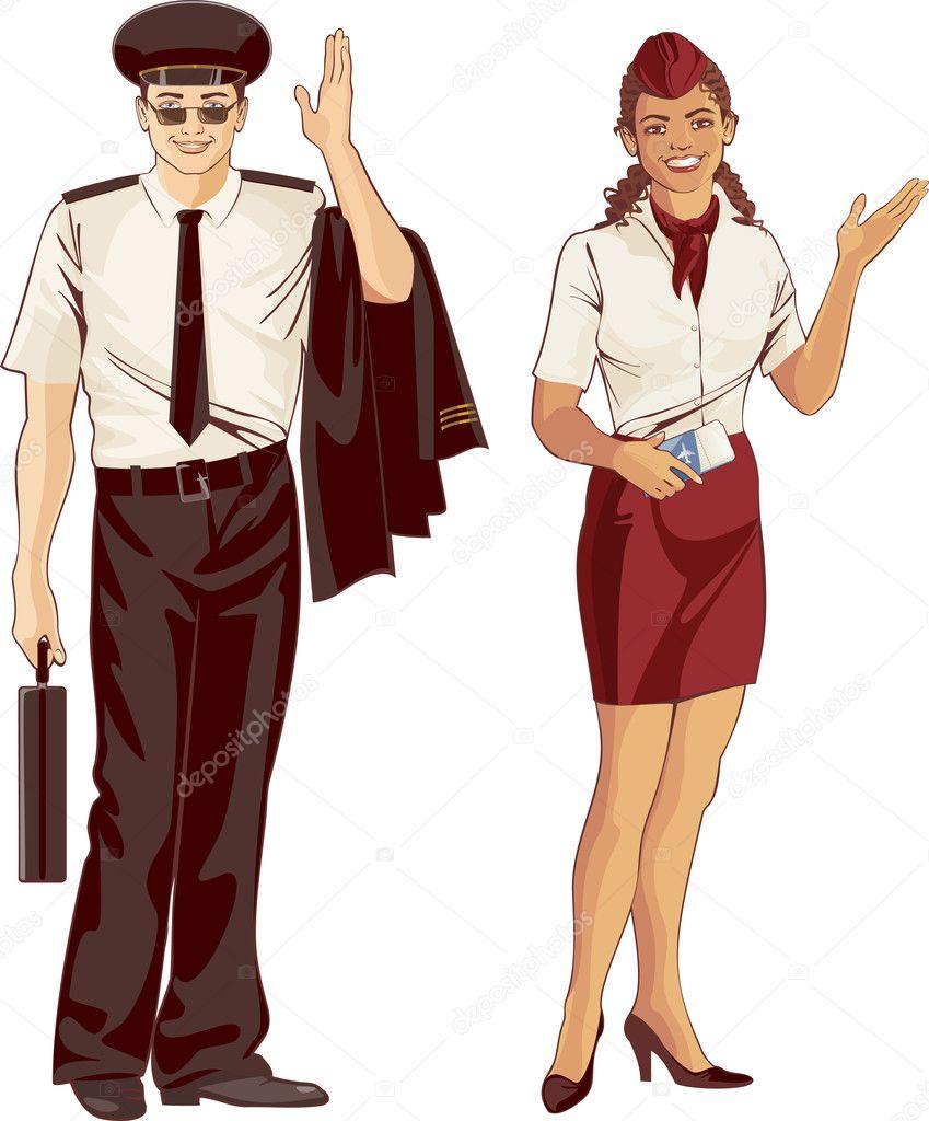 Fuck piloto asistente de vuelo