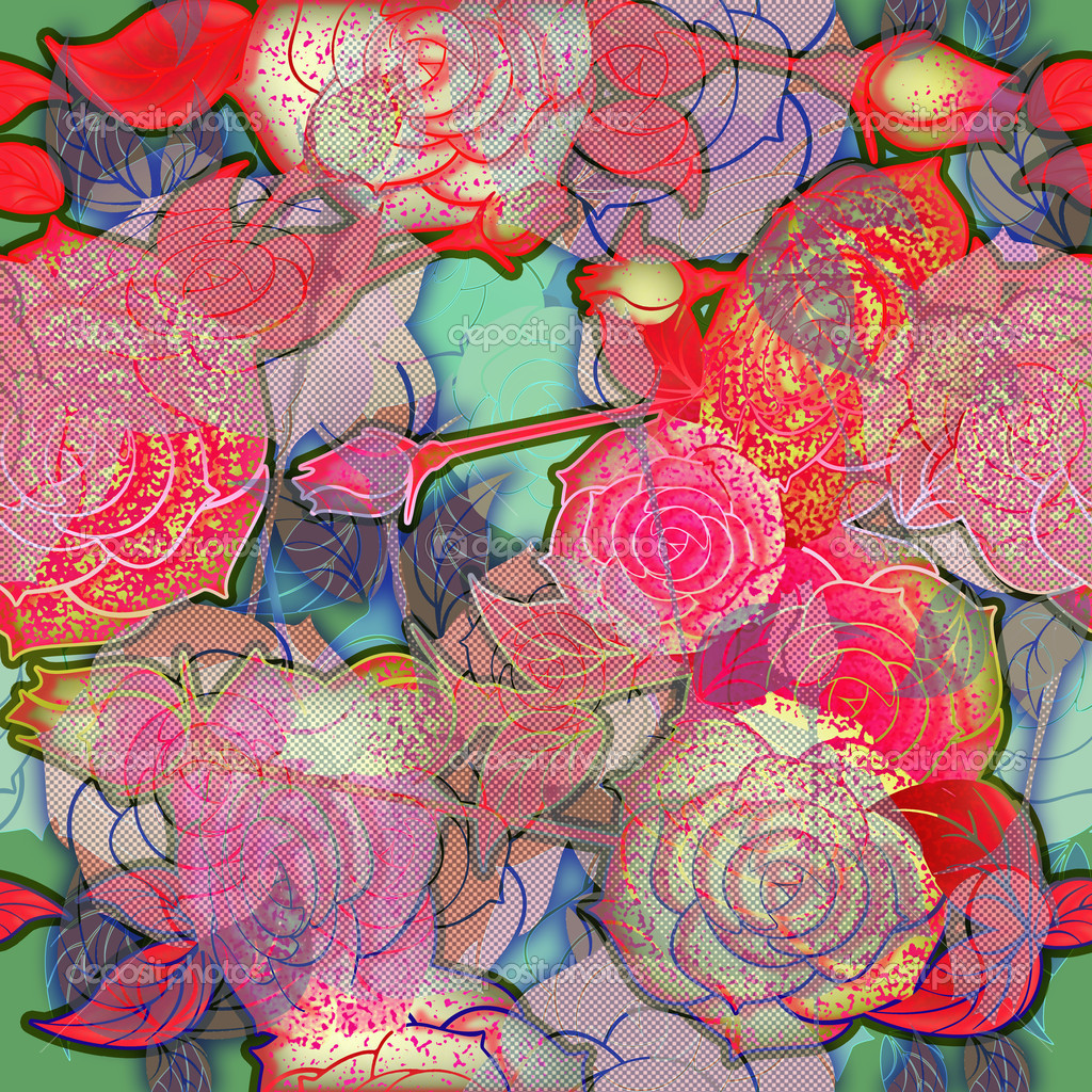 Roses Floral Background Floral Design Pattern Roses