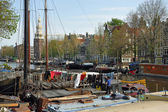 Houseboats in Amsterdam — Stockfoto