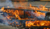 Wooden Fire — Stock Photo