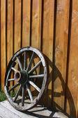 Abandoned wheel — Stock Photo