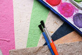 Paint and Paper — Stock Photo
