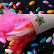 Feather Confetti — Stock Photo