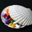 Jelly Beans Shell — Stock Photo