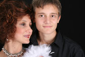 Stylish mother and son — Stock Photo