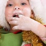 Baking Christmas Cookies — Stock Photo