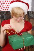 Christmas lady — Stock Photo