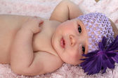 Relaxing baby — Stock Photo