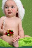 Weihnachten baby — Stockfoto