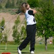 Female golfer — Stock Photo #8295139