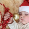 Sleepy christmas — Stock Photo