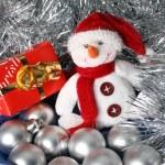 Christmas Snowman — Stock Photo