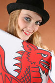 Teen in Wales — Stock Photo