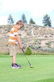 Mladý golfista — Stock fotografie