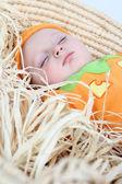 Pumpkin baby — Stockfoto