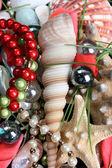 Seashells and jewelery — Stock Photo