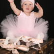 Little ballet girl — Stock Photo