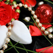 Valentines Day Pearls - Stock Photo