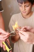 Playing with fire — Stock Photo