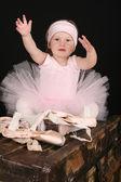 Little ballet girl — Stock Photo