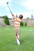 Young golfer — Foto de Stock