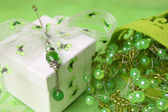 Gift Box with Pin — Stock Photo