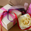 Gifts and Rose — Stock Photo #8375289