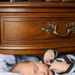 Sleeping baby — Stock Photo #8377656