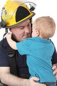 Сын пожарный — Стоковое фото