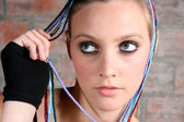 Female Model with Beads — Stock Photo