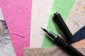 Handmade Paper and Pen — Stock Photo