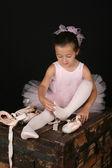 Brunette ballet girl — Stock Photo